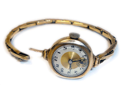 Smallish Watch And Strap Low Carat Gold