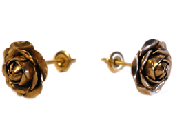 Small Mid Carat Rose Earrings